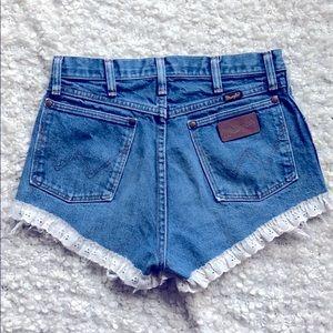 Wrangler high waist denim shorts